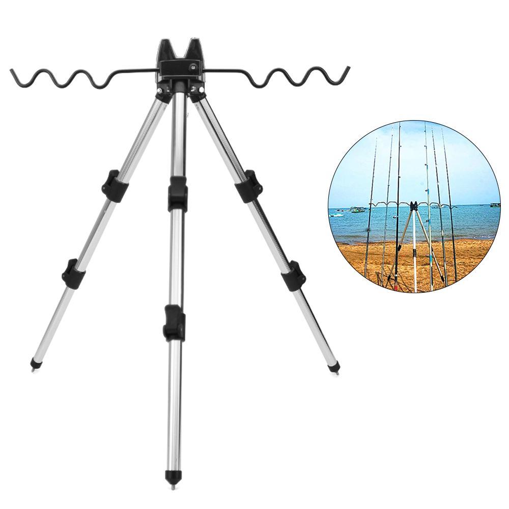 Fishing Telescopic Tripod Stand Rod Holder Fishing Pole Bracket Useful