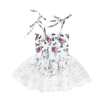 d517968eb776 Summer Newborn Baby Girls Lovely Princess Party Dress Lace Party Tutu Dress  Floral Strapless Dress