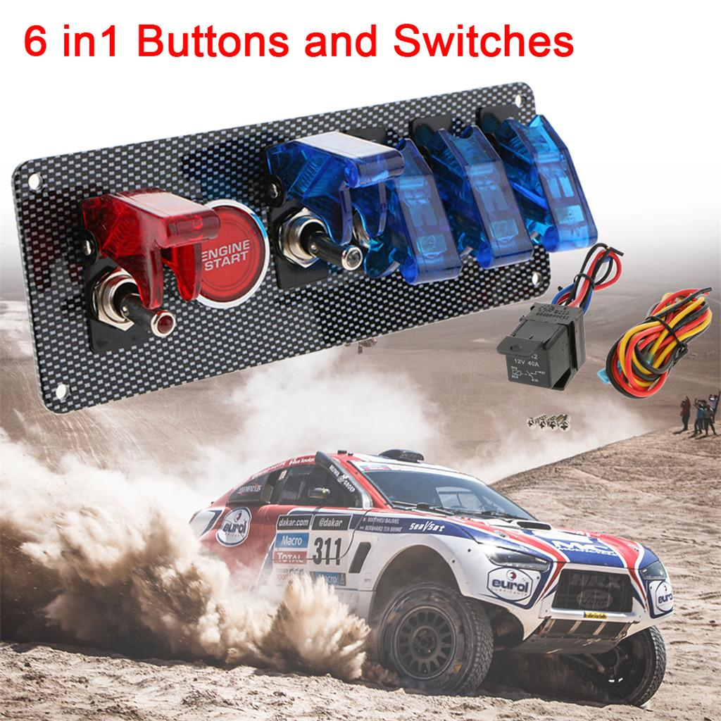 Ignition Kill Switch Push Button Battery Isolator Panel Start Car Track Rally