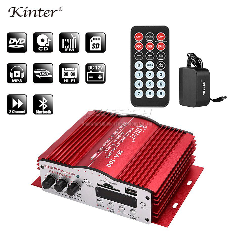 Amplifier Stereo Amplifier for car // home for ipod // MP3 // FM radio mini-USB kinter HiFi Amplifier 2 canals