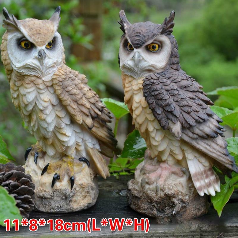 3Pcs Owl Shaped Desktop Decoration Ceramic Crafts Decorative Crafts Home Ornamen