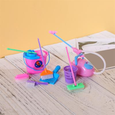 Gifts Housekeeping Bucket Mop Pretend Toys Kit Cleaning Tools Kids Play Colorful