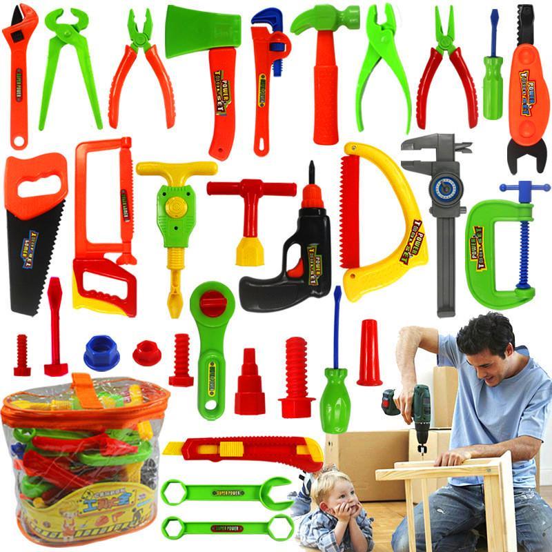 14pcs Repair Tools Set Craftsman Pretend Play Toy for Kid Fixing Skill Xmas Gift
