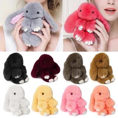 4adc0888d FASHION Bunny Rex Rabbit Fur Bag Handbag Keychain Pom Doll Ball Key ...