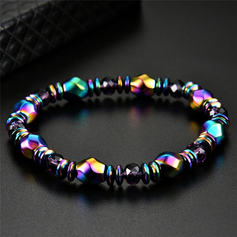 Bracelet magnétique perle hématite Stone soins de santé femmes BB