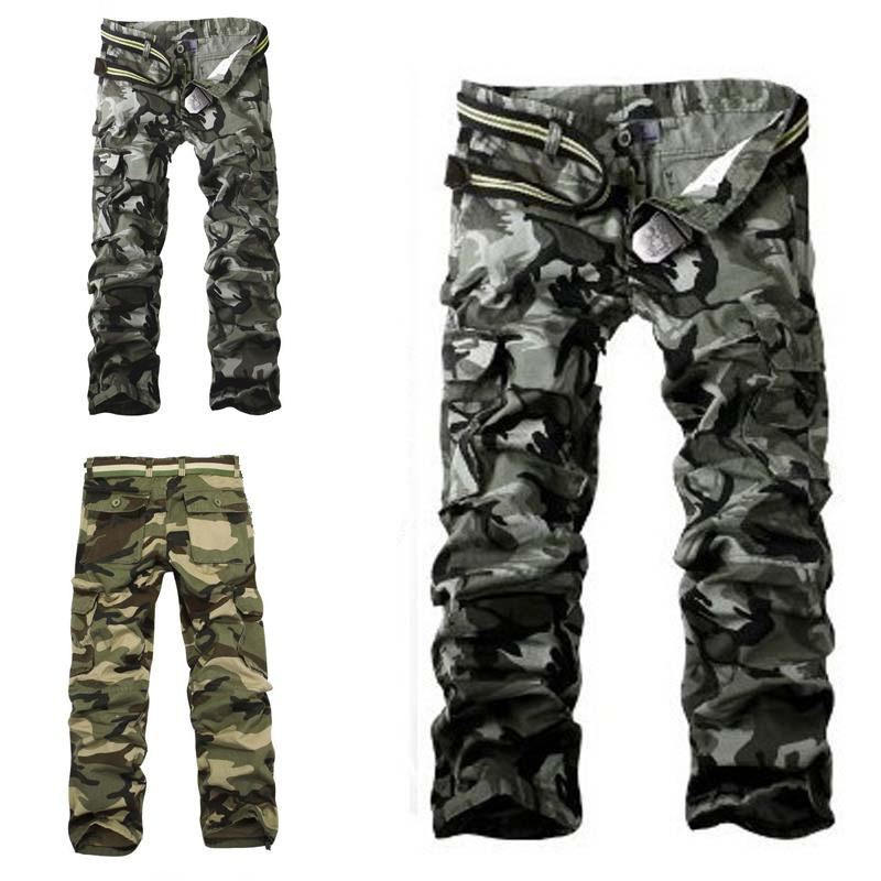 Mens Ankle-Length Military Army Cargo Camo Combat Work Pants Trousers are Breathable Sports Pants