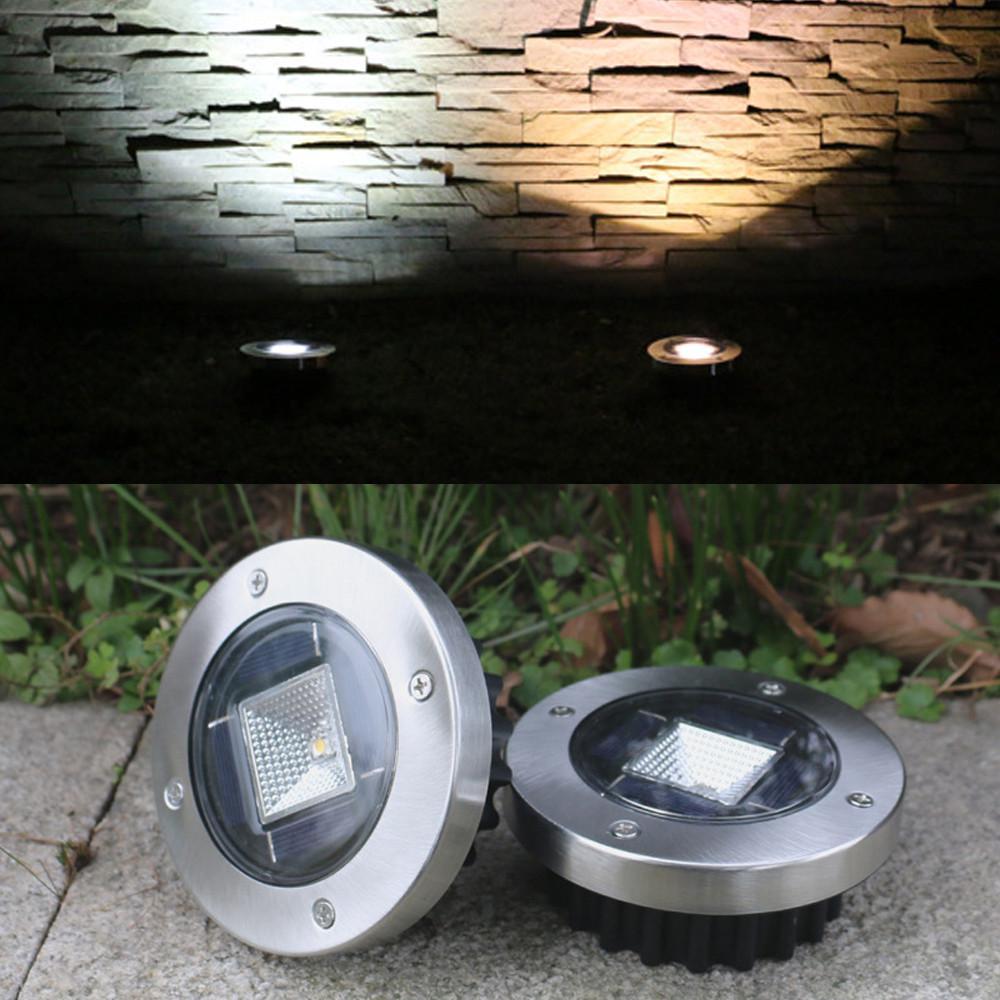 Path Floor Decking Solar Power Buried Light Waterproof Garden 8 LED Outdoor Lamp