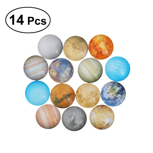 20pcs Assoterd Round Glass Flatback Scraphook Cabochons for Jewelry Making