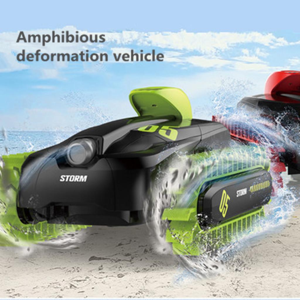 RC Amphibious Truck 2.4Ghz Remote Control Car Boat High Speed Land and Water Remote Control Vehicle RC Stunt Car Electric Racing Vehicle 360 Spins /& Flips for Kids