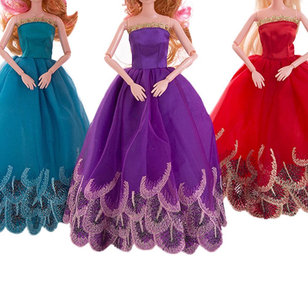 1 PC puro boda vestido para Barbie muñeca noche ropa de fiesta ...