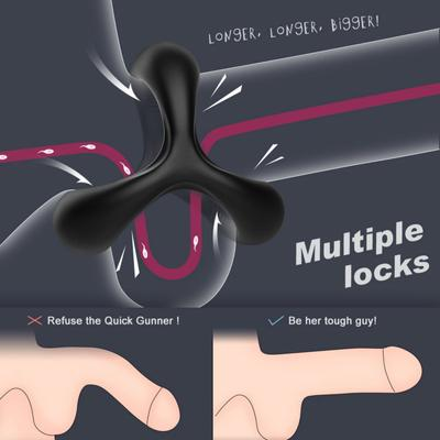 Lock Ring Silicone Male Penis Ring Sex Toy