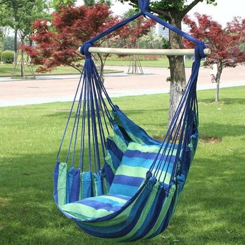 Hanging Bed Chair Swing Seat Tree Patio Hammock Rope Portable Camping Outdoor