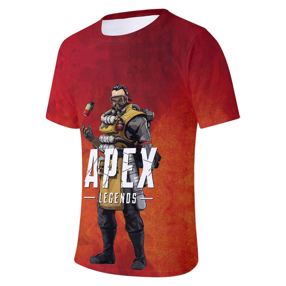 New Boys Apex Legends T-Shirts Kids Short Sleeve Cotton Cartoon Unisex Tee Tops