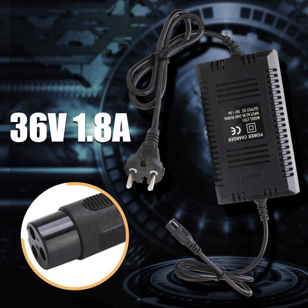110-240V EU Plug 36V 1.8A Battery Intelligent Charger for Electric Bike Scooter