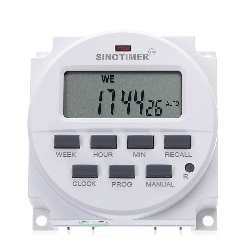 DIN Rail Mounting Digital Programmable Timer Time Switch THC15A 12-220V tyu