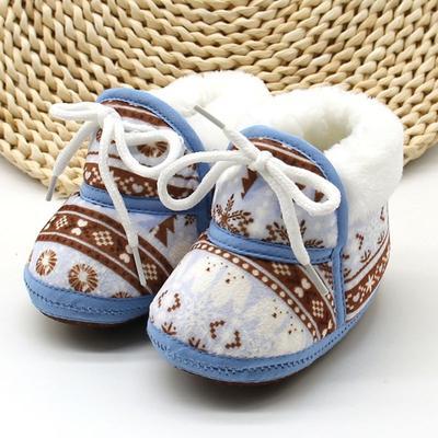 WEIXINBUY New Cute Kids Baby Boy Girls Toddler Winter Warmer Shoes Soft Cotton Prewalker 7-12M H2
