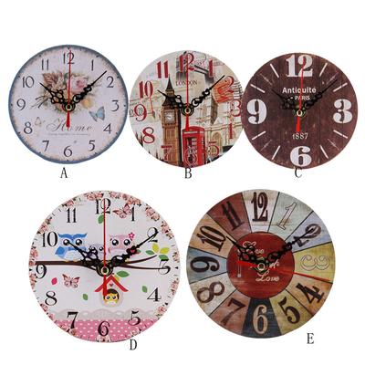 Vintage Style Antique Wood Wall Clock for Home Kitchen Office