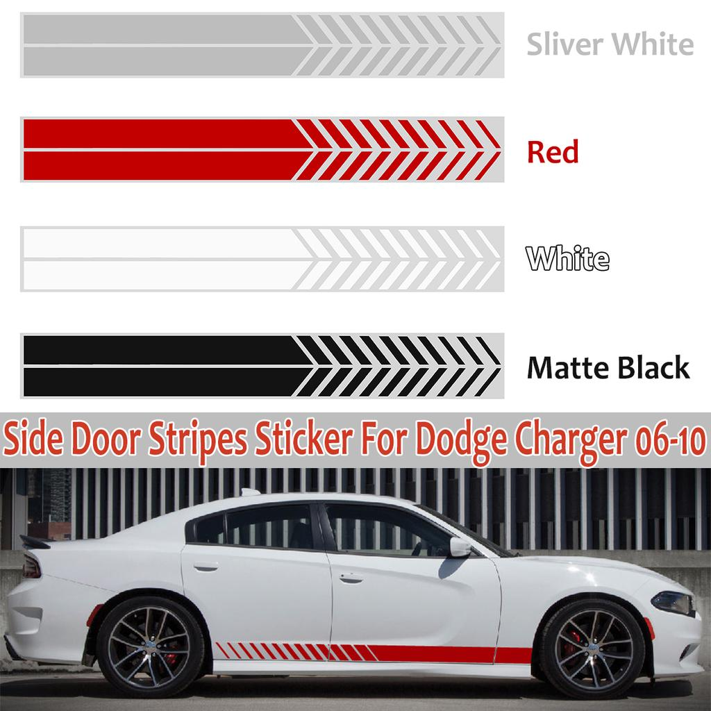 Decal Sticker Side Door Racing Stripe Body Kit For Dodge Charger 2006-2010