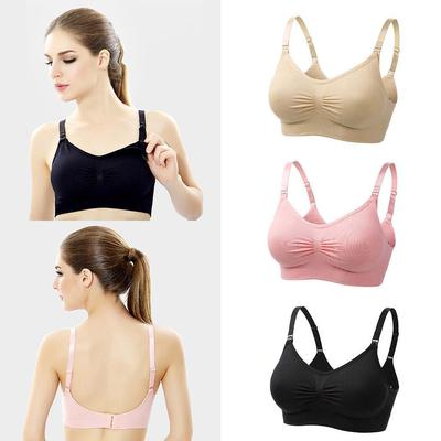 47831e7933b1e Maternity Nursing Bras Seamless Breastfeeding Removable Pads Comfortable Cup