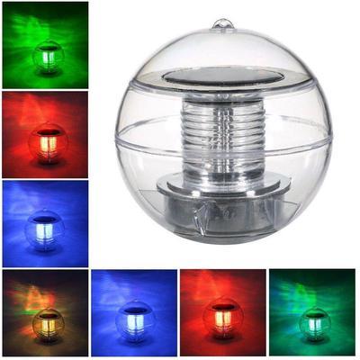 2 x Solar LED Floating Light Soccer Football Shape Outdoor Pool Pond Night Lamp