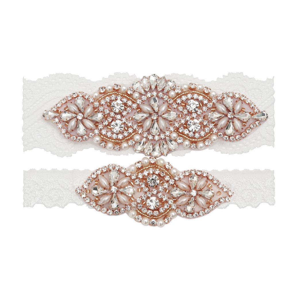 Pearl Garter Wedding Garter Belt Rhinestone Garter Toss Garter Keepsake Garter Wedding Lace Garter Set Bridal Garter