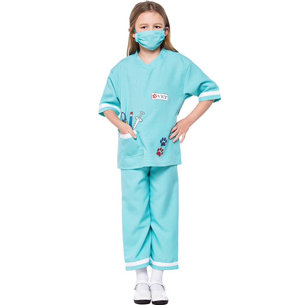 Doctor Surgeon Mens Ladies Fancy Dress Adult Uniform Costume Outfit Mask New