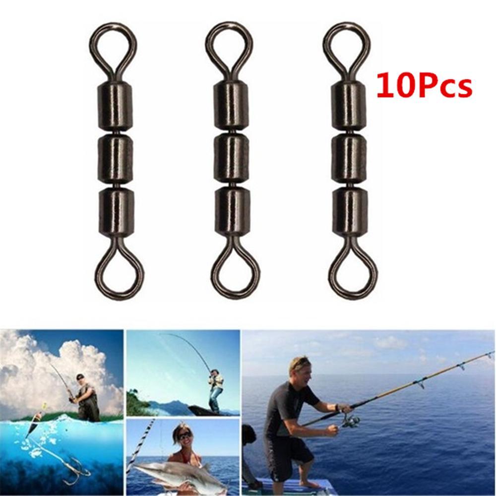 100 Mixed Size Barrel Swivels Connector Coarse Carp Sea Fishing Hook Tackle