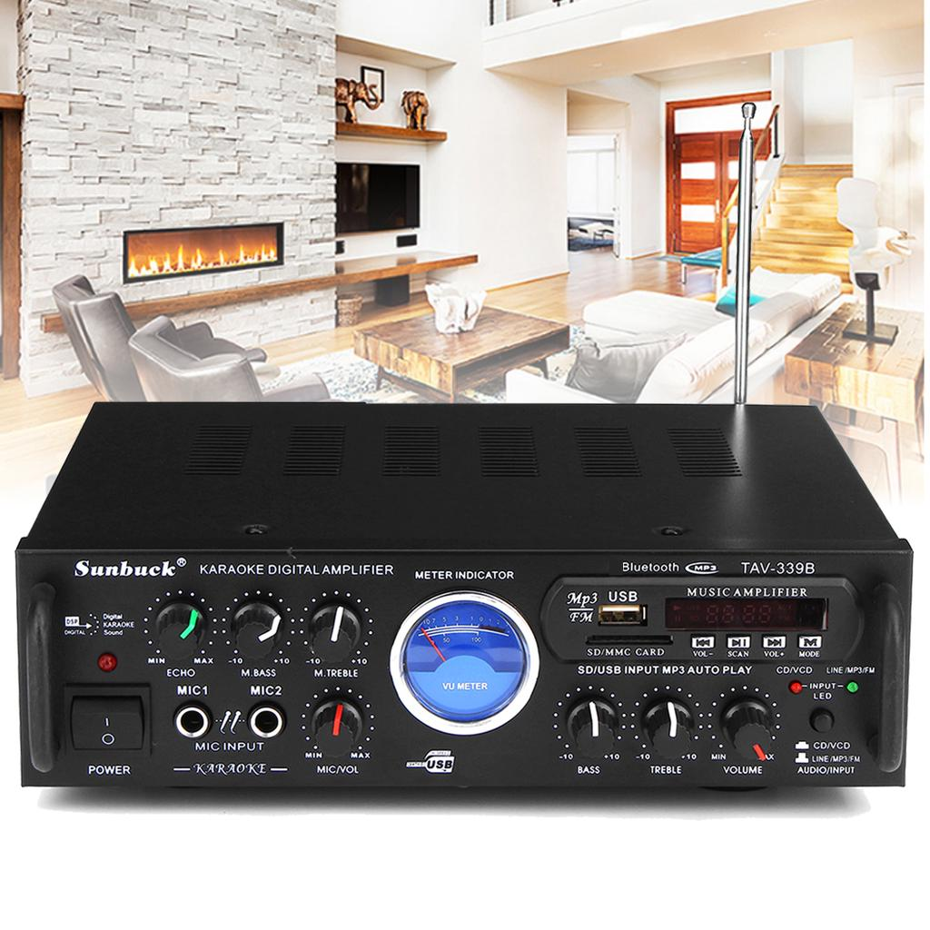 600W Bluetooth Stereo-Audio Verstärker Car Home HiFi-Musik SD USB FM AMP 12//24V
