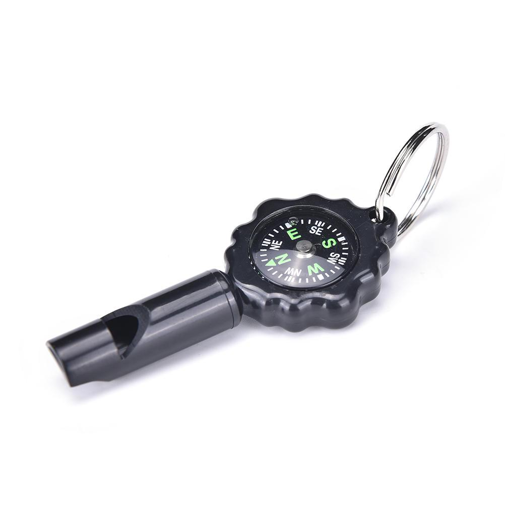 Camping Bushwalking Emergency Survival Whistle With Builtin Compass Thermometer