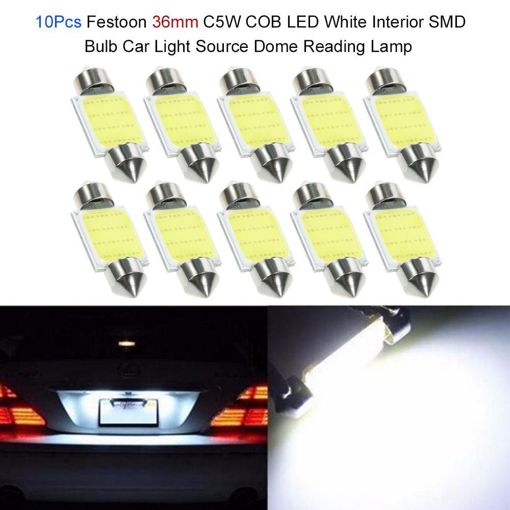 White COB C5W Car-styling Festoon Dome Bulb Car Interior Lamp 41mm LED Light