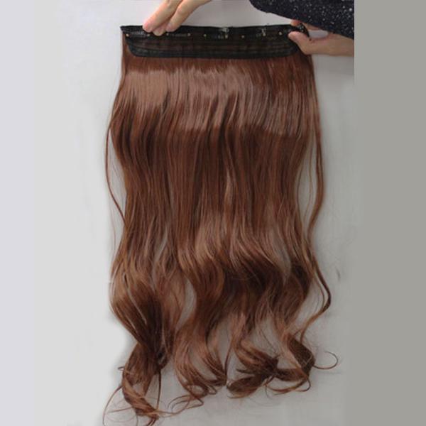 Păr Fals Prelungire 5 Clipuri Traceless Hairpiece Sintetice Meşe