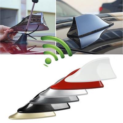 Shark Fin Style Roof Antenna Aerial FM//AM Radio Signal Decoration Car Universal