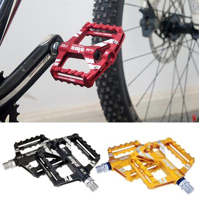 Blue VOANZO Mountain Bike Pedals 1 Pair Aluminum Alloy Folding Bike Bicycle Pedals Outdoor Cycling Accessory