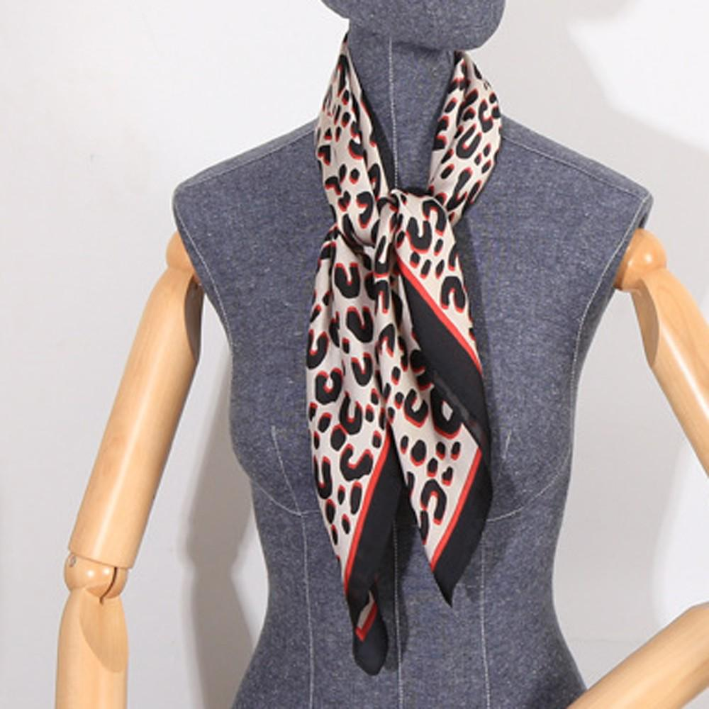 Young Ladies New Printed satin Stripe Scarves Stole Wrap Neck Tie Scarf