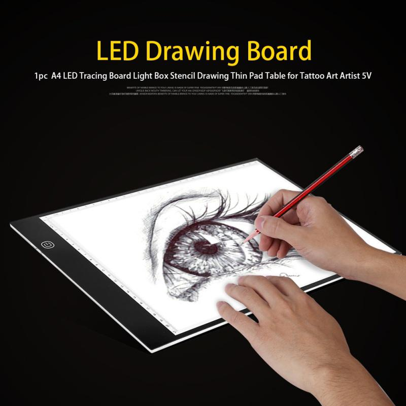Erasers A4 LED Light Tablet Drawing Board Panel Diamond Painting Stencil Pad NEW