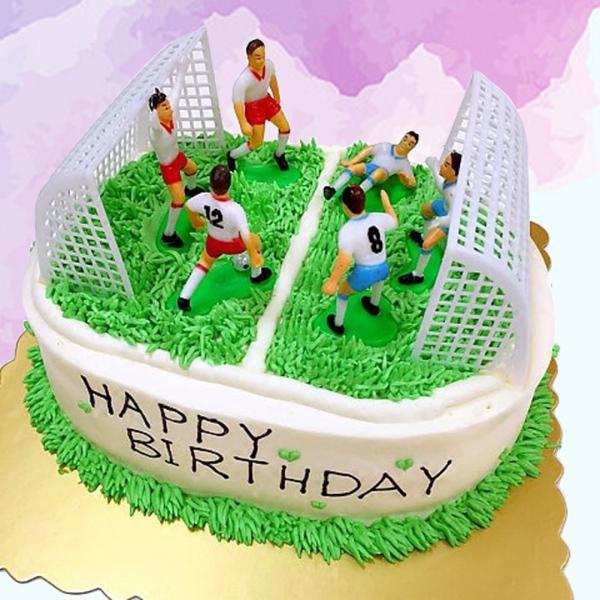Football Cake Topper Nontoxic Soccer Cake Decor for Son Home Soccer Fan Friend