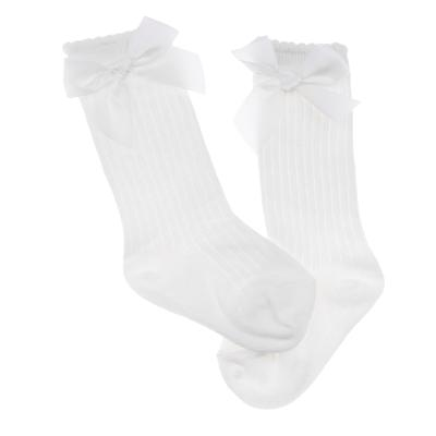 74ee0b3f984 Baby Girls knee High Socks Bowknot Toddler Babies School Socks 02T White