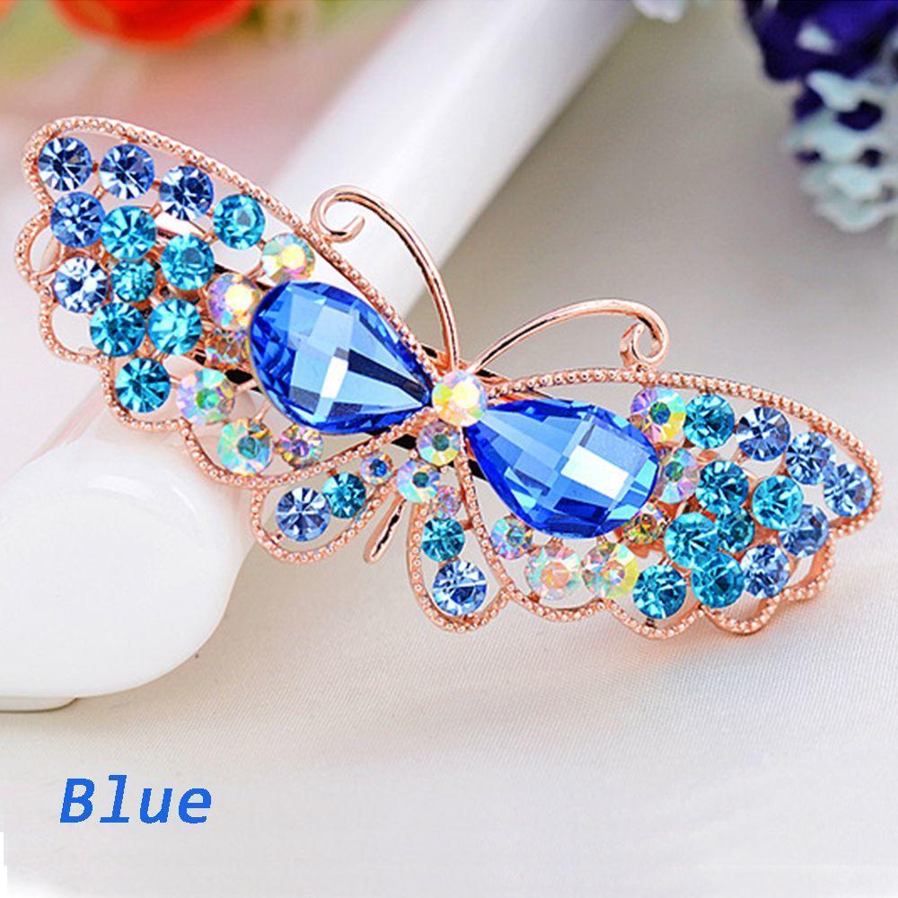 Crystal bowknot Rhinestone Hair Clip Barrette Hairpin Headwear Accessories Gift