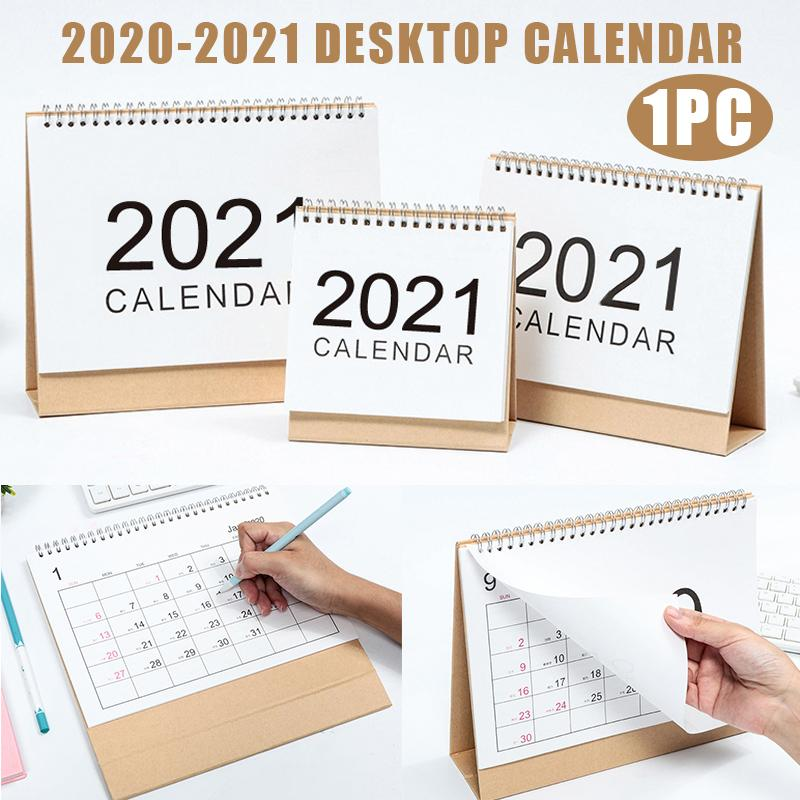 Flip Calendar 2021 Mini Standing Desk Calendar Top Stand Up Office Desk Organisation Home Planner Notes Calendar Yearly Stationery Office Supplies Week to View