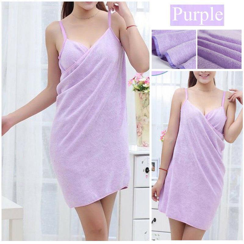 1PC Lady Wearable Fast Drying Soft Microfiber Bath Towel Bathrobe Bath Skirt