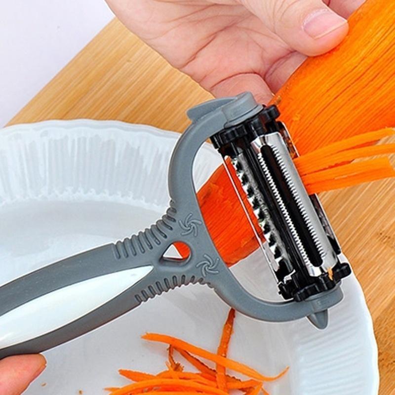 不锈钢多功能旋转削皮蔬菜及水果削皮器多功能削皮器3 1刨丝器