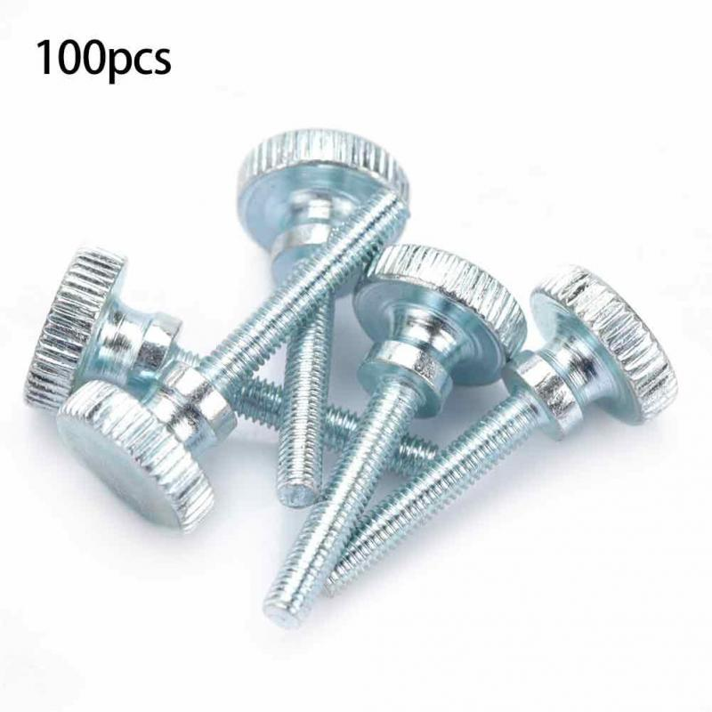 Tornillo de cabeza moleteada ajustable M4 de 100 piezas Tornillo industrial de cabeza alta M4*25(100pcs)