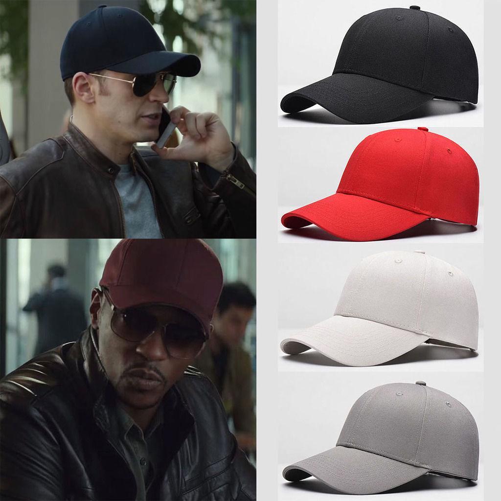 Unisex Men Women Blank Baseball Cap Plain Bboy Snapback Hip-Hop Adjustable Hats