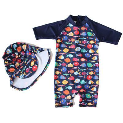 Bébé bambin filles à Manches Longues Rash Guard Maillot De Bain Chemise Floral Sunsuit maillot de bain