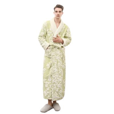 708cec4131 Ladies and Men Long Bathrobe Women flower Flannel Kimono Bath Robe  Bridesmaid Wedding Bridal Robes