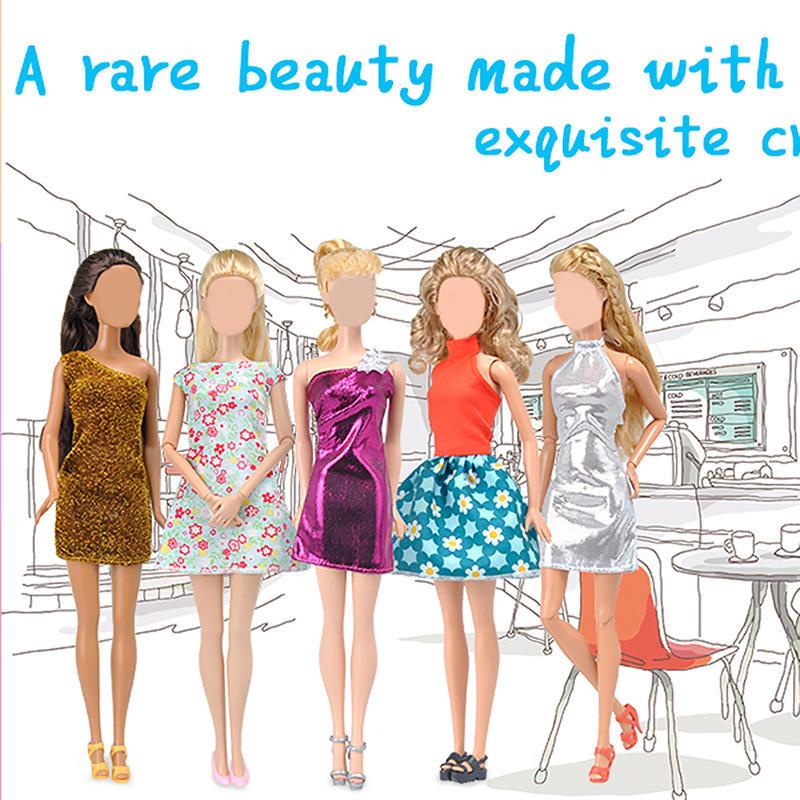 5pcs/Lot Kinder Geschenke Barbie Kleider Kleidung Kleid des Mädchens ...