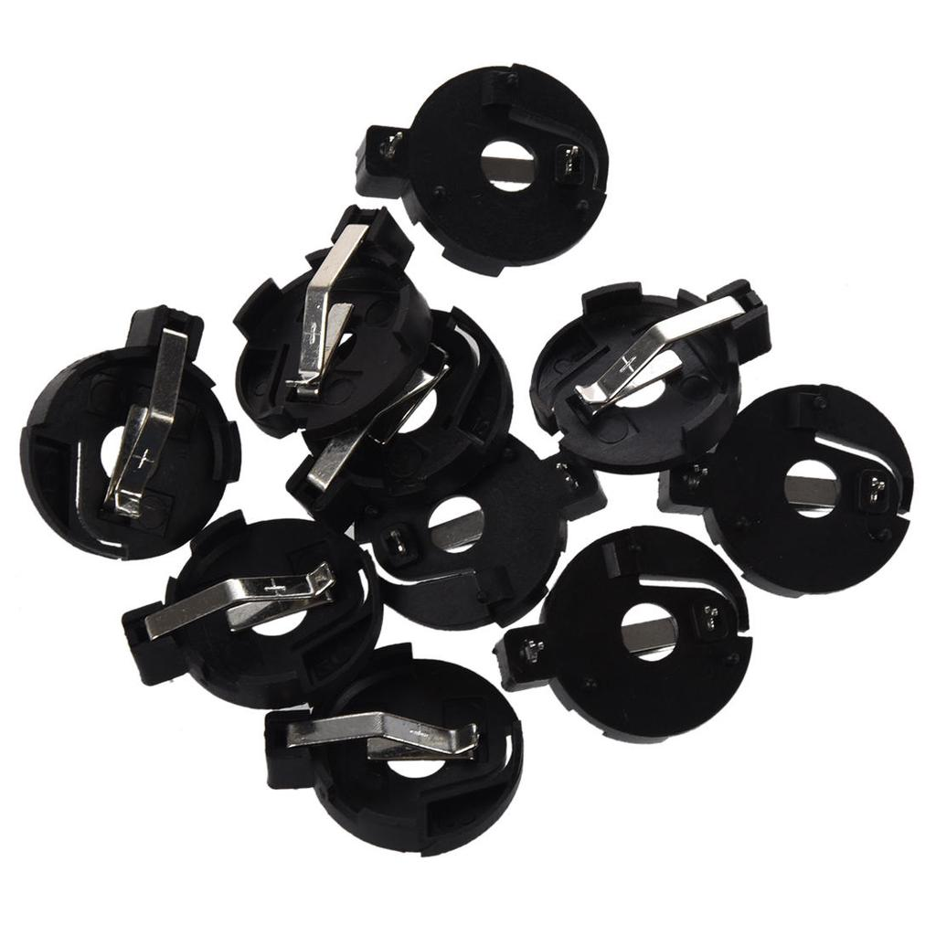 cr2016 2025 2032 coin cell button battery holder socket black 10 pcs 23A Battery Equivalent 1 of 5