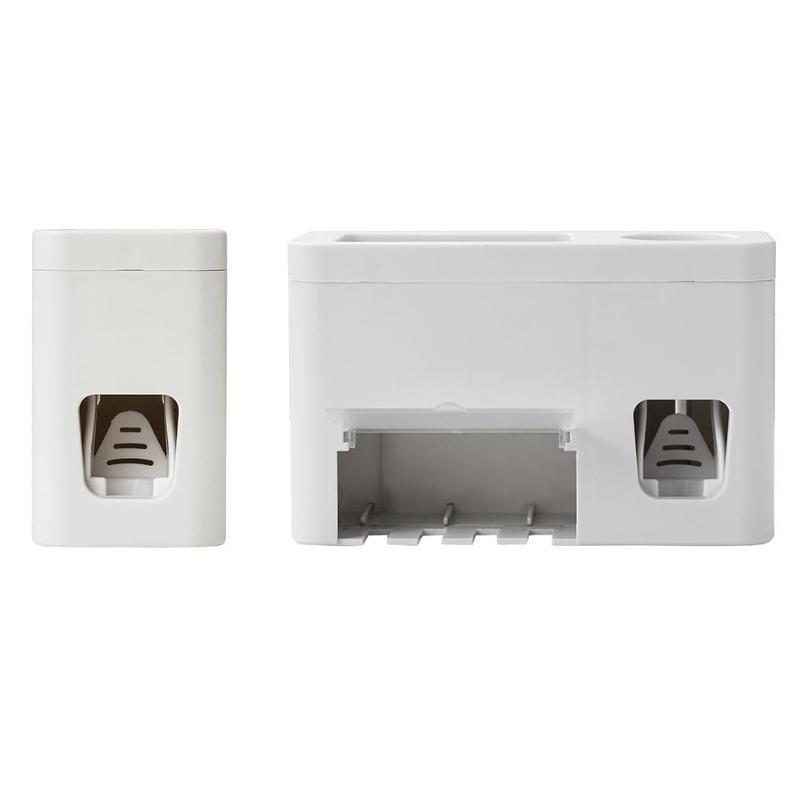 2PCS Automatic Squeezer Toothpaste Dispenser Handsfree Squeeze Out Shelf Model