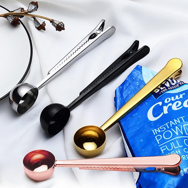 Coffee Measuring Spoon Tablespoon Stainless Scoop Tea Baking Sugar Utensil LH