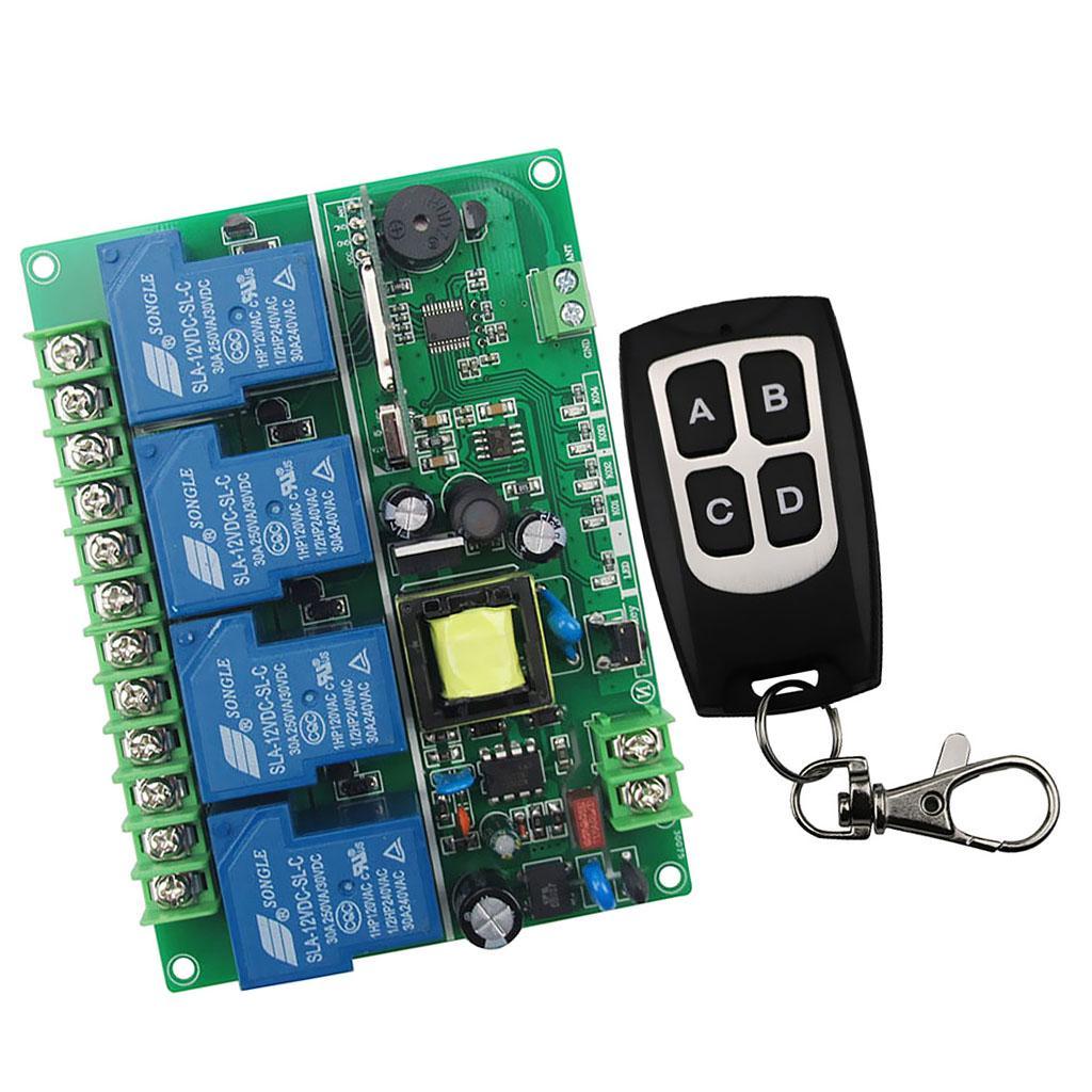 433MHZ DC 12V 24V 36V 48V Wireless Remote Control Switch Universal 2 Channel